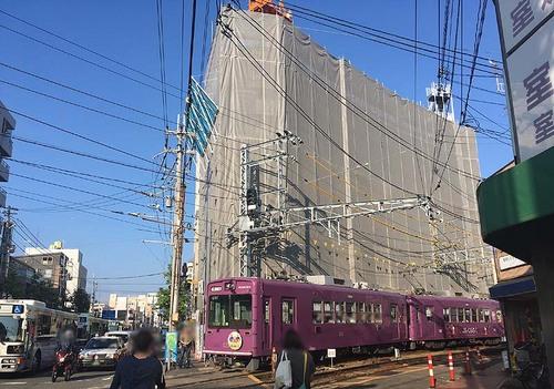 嵐電西院駅20161020
